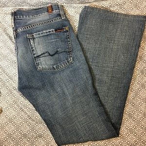 7 For All Man Kind Denim Blue Jeans